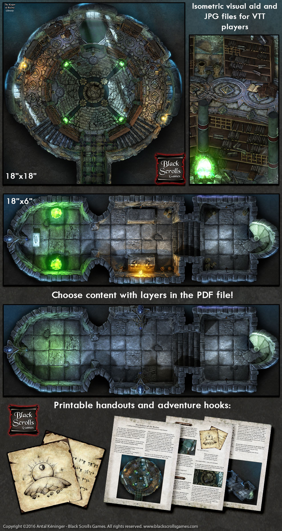 image relating to Printable Scrolls called Free of charge printable RPG Battlemap