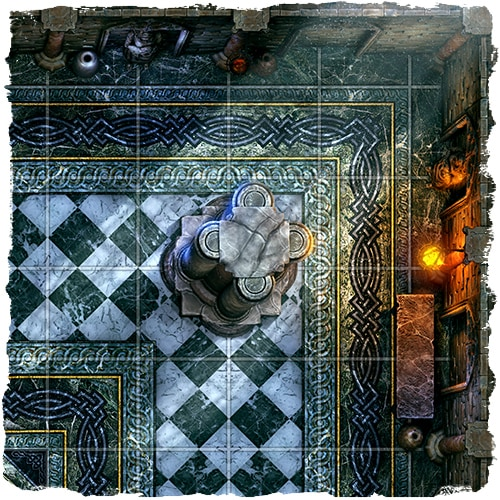 rpg cathedral temple map tile set