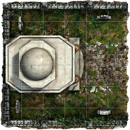rpg cemetery graveyard map tile set