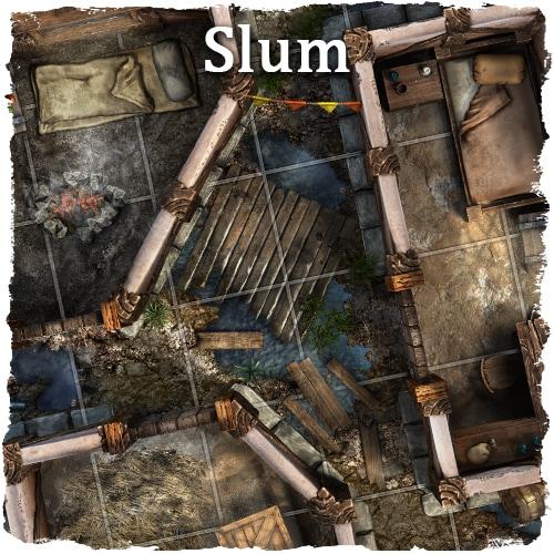 rpg medieval city map tile set