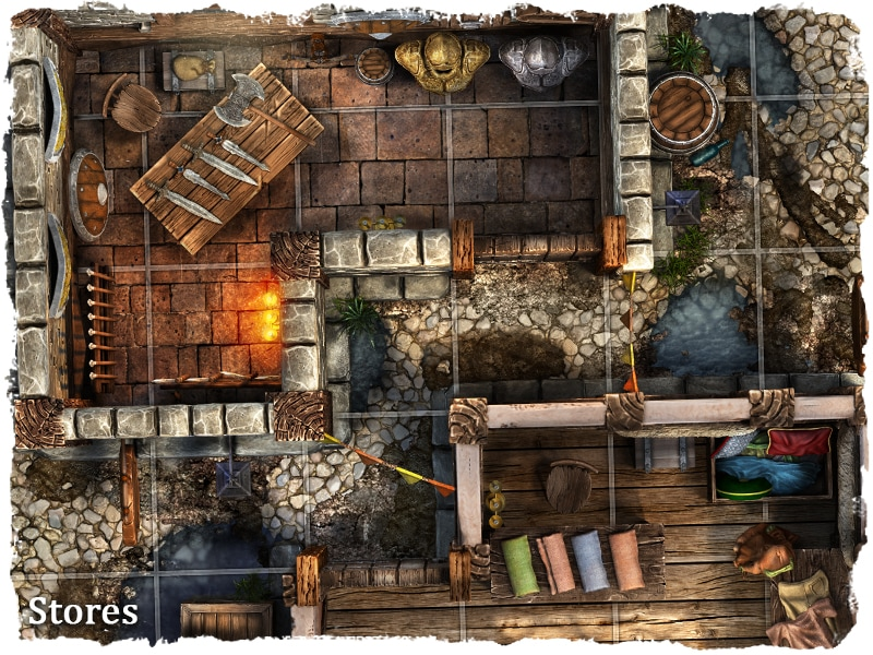 rpg medieval city map tile set