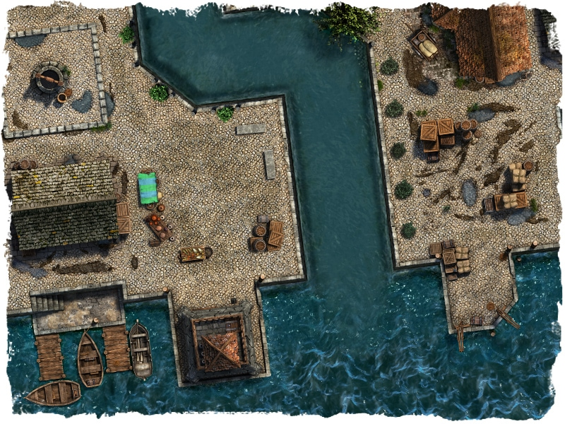 docks and canals map tile set