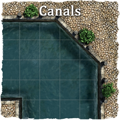 rpg docks and canals map tile set