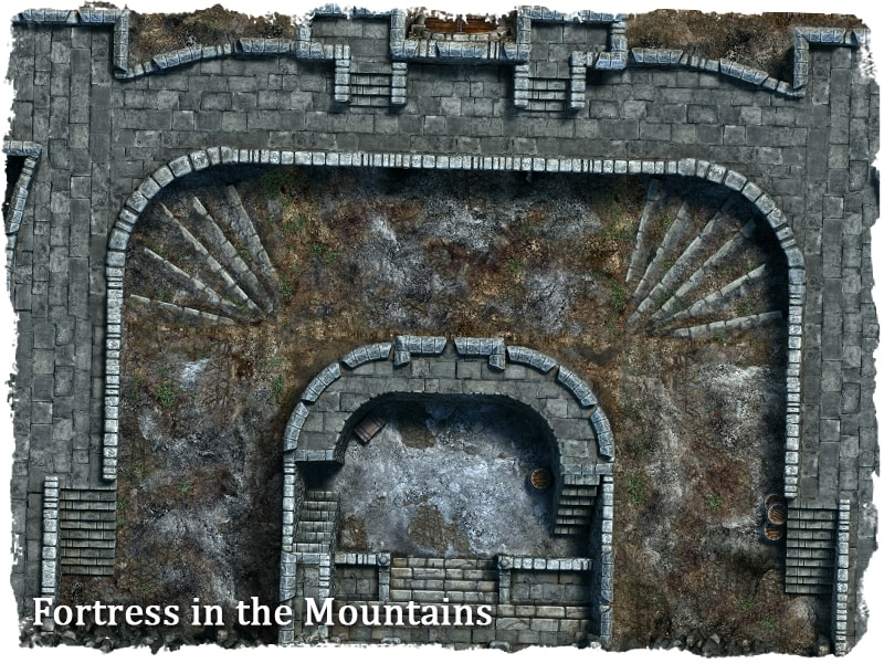 fortress map tile set role playing game