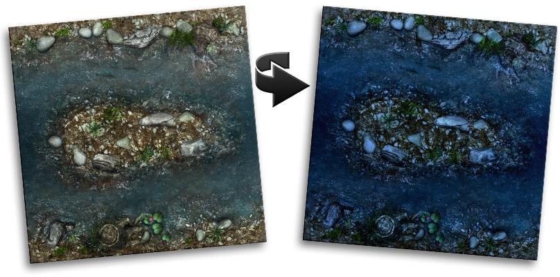 moat river map tile set night version