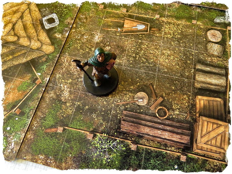 village map tile set role playing game